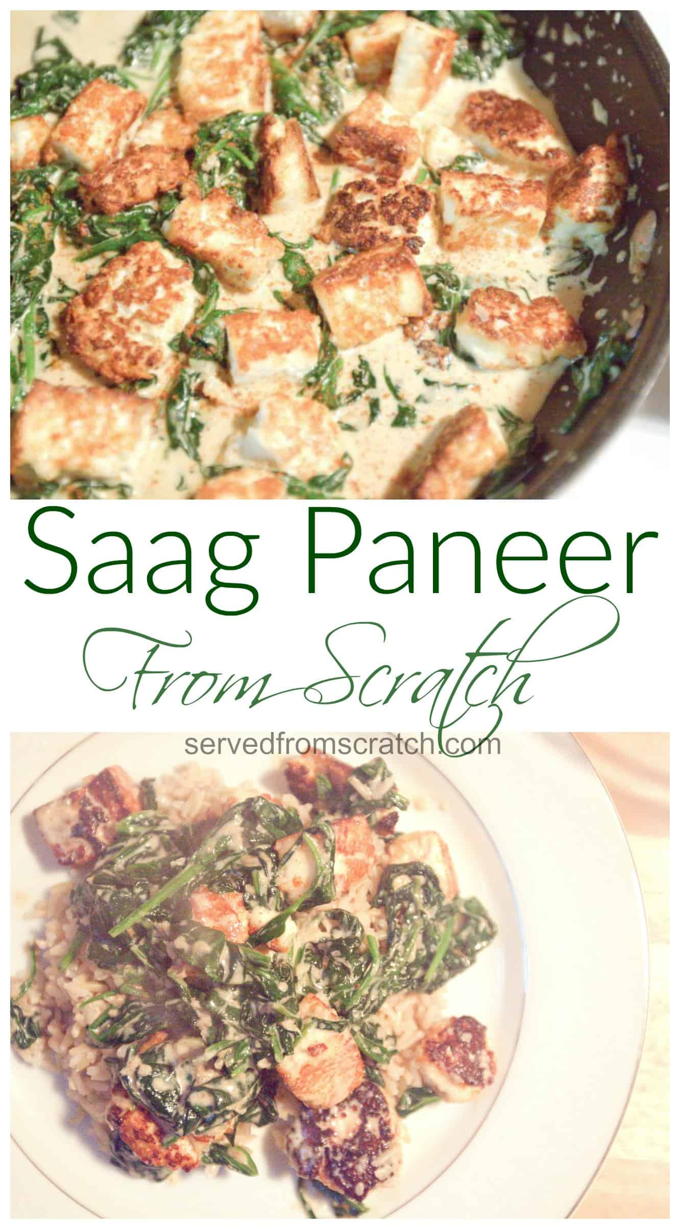 From Scratch Saag Paneer with homemade Paneer cheese!