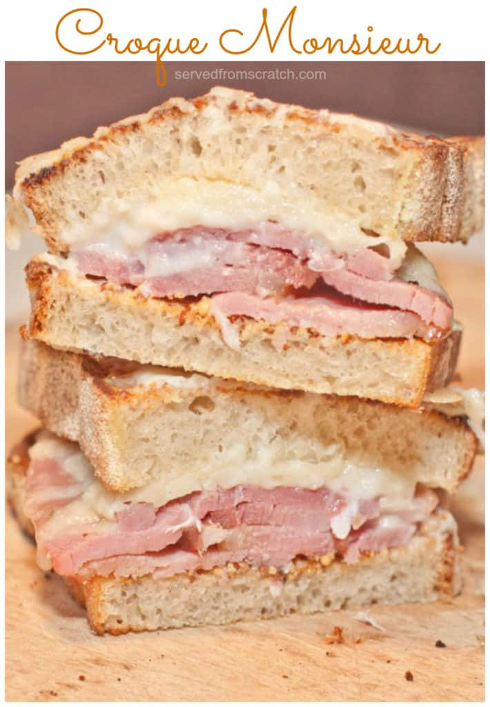 Take the classic ham and cheese sandwich to the next level with this Croque Monsieur Sandwich recipe! #sandwich #croquemonsieur #recipe #easy