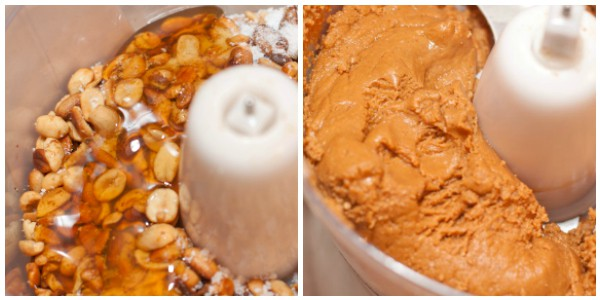peanuts and honey in a food processor and then creamy
