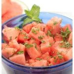 Vodka Watermelon Mint Salad – a cooling, refreshing, summer salad that's fresh and minty and perfect for just the adults!