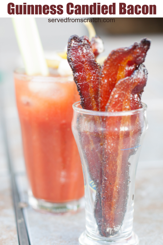 a cup of candied bacon