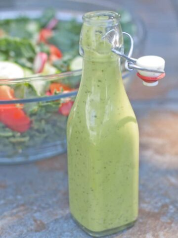 green goddess dressing in a bottle