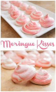 Little light, slightly sweet, puffs of deliciousness! Meringue Kisses the perfect holiday cookie!