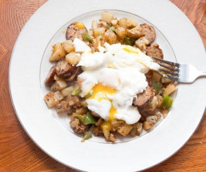 Start your day with some Hearty Sausage Hash and Eggs