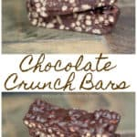 It's easier than you think to make your own Chocolate Crunch Bars at home. They're just as delicious and they're even gluten free and vegan friendly! #crunchbars #recipe #vegan #copycat #vegan