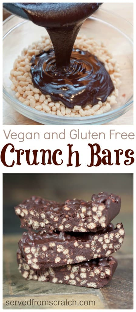 It's easier than you think to make your own Chocolate Crunch Bars at home. They're just as delicious and they're even gluten free and vegan friendly!
