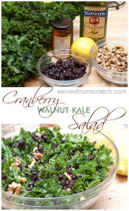 The perfect fall salad Cranberry Walnut Kale Salad