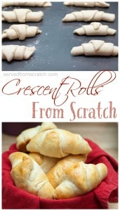 Impress your family this holiday season with buttery, flakey, Crescent Rolls From Scratch!