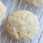 Lemon Ricotta Cookies from scratch with fresh, homemade ricotta cheese are a sweet soft, moist cookie topped with a sweet lemon glaze. #lemonricottacookies #recipe #italian #easy #fromscratch #giada
