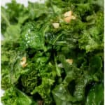 cooked garlic kale in a bowl