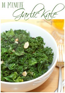 10 Minutes is all you need for this super healthy, garlic filled sauteed kale!