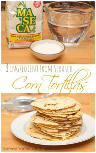 Only 3 ingredients for these super easy From Scratch Corn Tortillas!