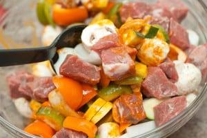 Spicy Beef Kabobs