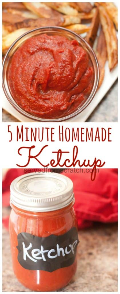 Why buy it in the bottle when you can have your own 5 Minute Homemade Ketchup that you can tailor to your own specific taste? #homemadeketchup #ketchup #easy #vegan #healthy #recipe
