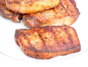 Grilled boneless pork chops!