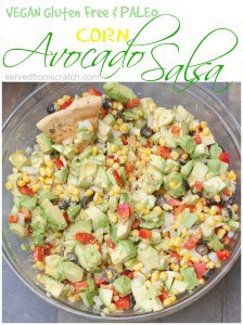 The ULTIMATE Crowd Pleasing Appetizer and Snack, Avocado Corn Salsa!