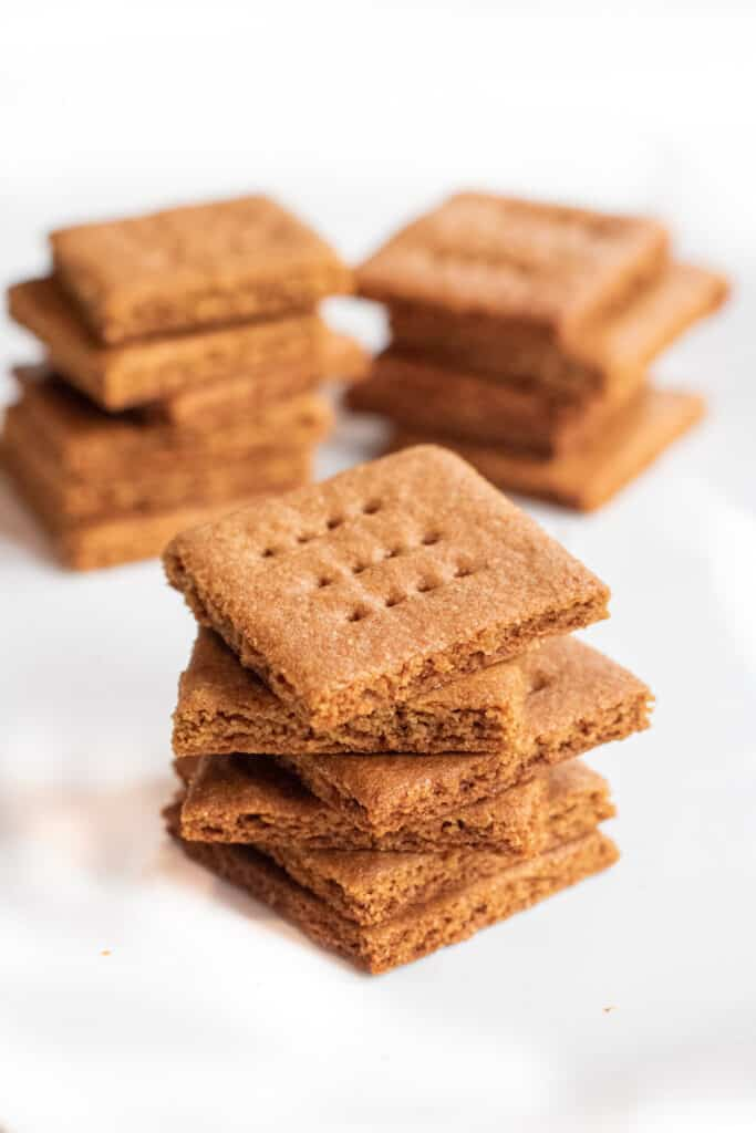 stacked homemade graham crackers