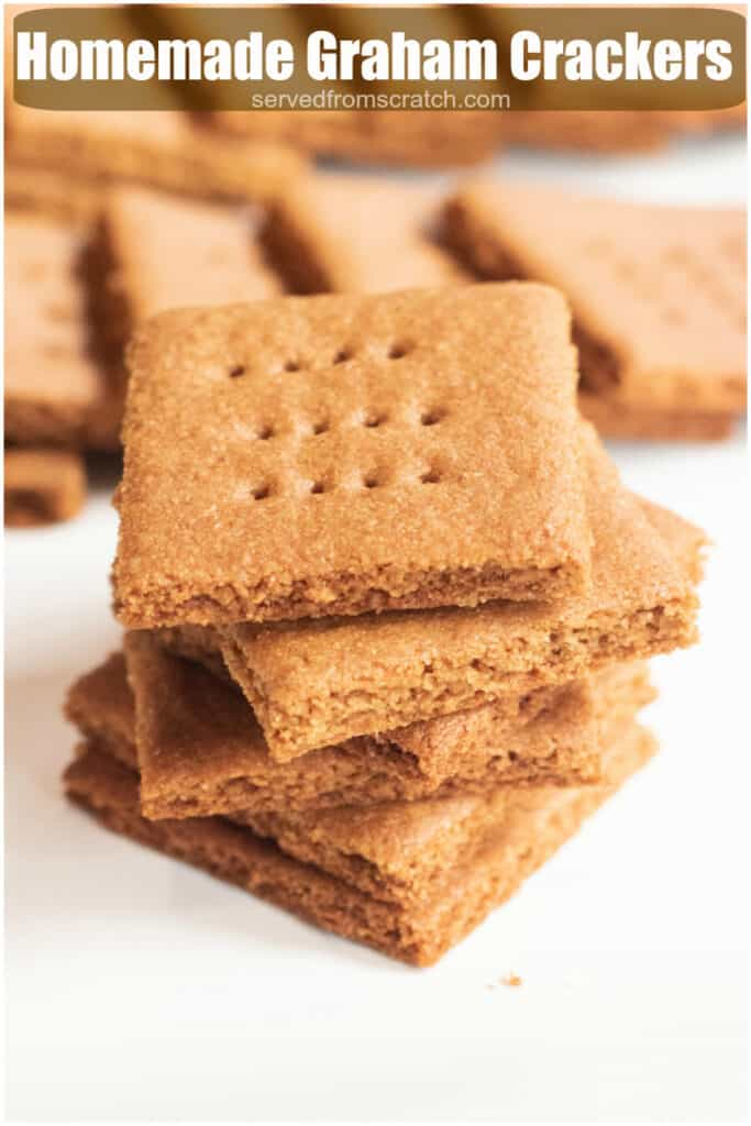 a close up of a stack of graham crackers