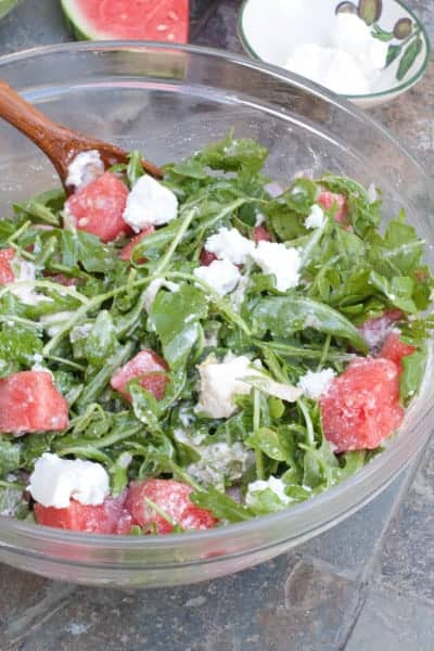 Arugula Watermelon Feta Salad
