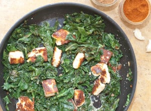 Kale Paneer with from scratch paneer cheese