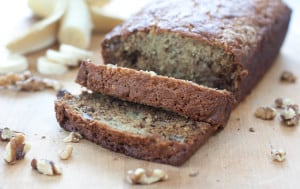 Classic Banana Walnut Bread made from scratch. Nothing too fancy, just the way your mama likes it!