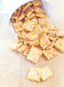 Cheesy. Crunchy.  Salty.  Your favorite cracker that you can easily make at home!  Homemade Cheez-It Crackers!