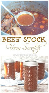 Make your own beef stock to give a great From Scratch base to your soups this winter!