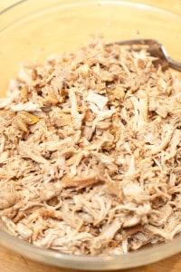 Crock Pot Chicken Carnitas Tacos