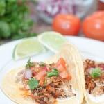 Crock Pot Chicken Carnitas Taco