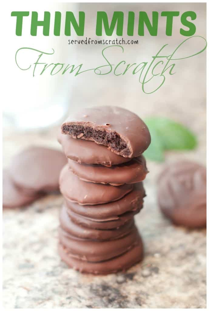 Your favorite Girl Scout Cookie Thin Mints made at home From Scratch! #girlscoutcookies #cookies #thinmints #fromscratch #chocolatecookies