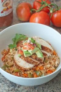 Chicken Fajita Burrito Bowl!