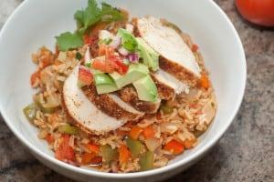 Chicken Fajita Burrito Bowl