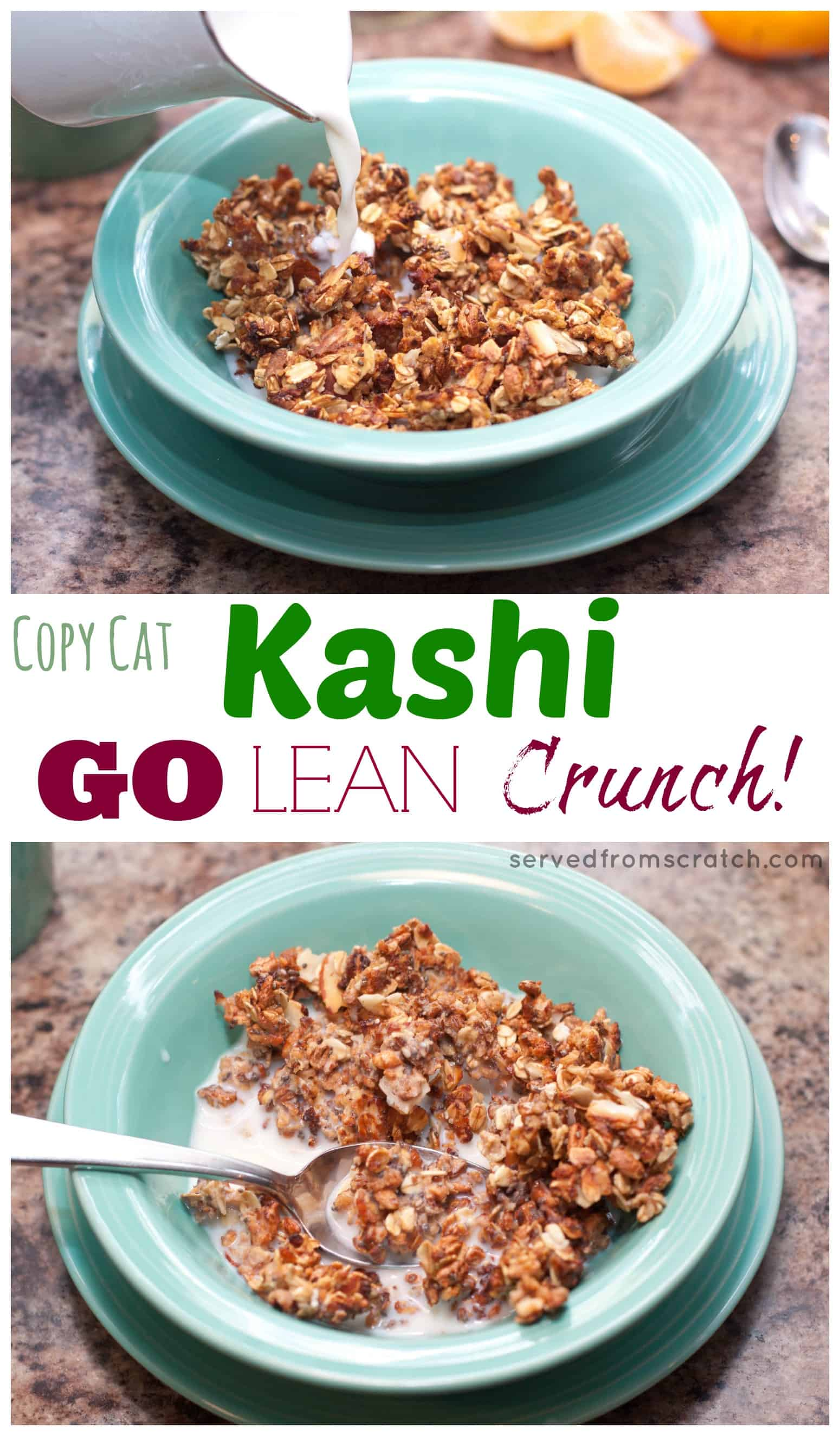 Copycat kashi go lean crunch cereal served from scratch no need to buy your favorite whole grain healthy cereal you can make it at ccuart Image collections