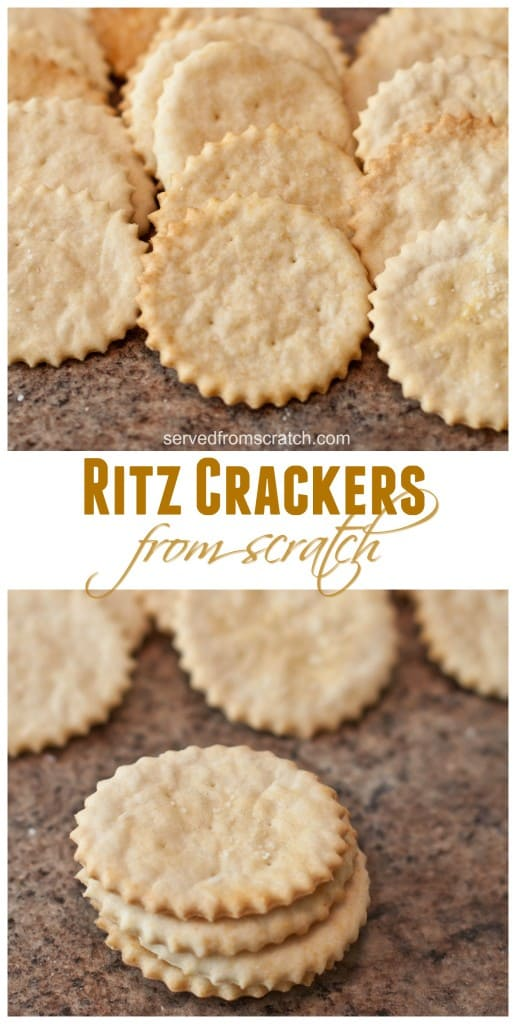Who doesn't love these buttery, crunchy, salty crackers? Making your Ritz Crackers from scratch is a lot simpler than you'd think! #ritz #crackers #recipes #snacks #copycat