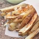 Baked Parmesan Steak Fries and Garlic Aioli Dipping Sauce
