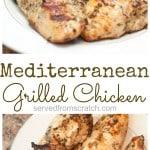 Mediterranean Grilled Chicken Breasts are a super flavorful way to make your weeknight meals even easier! #fromscratch #chicken #grilledchicken
