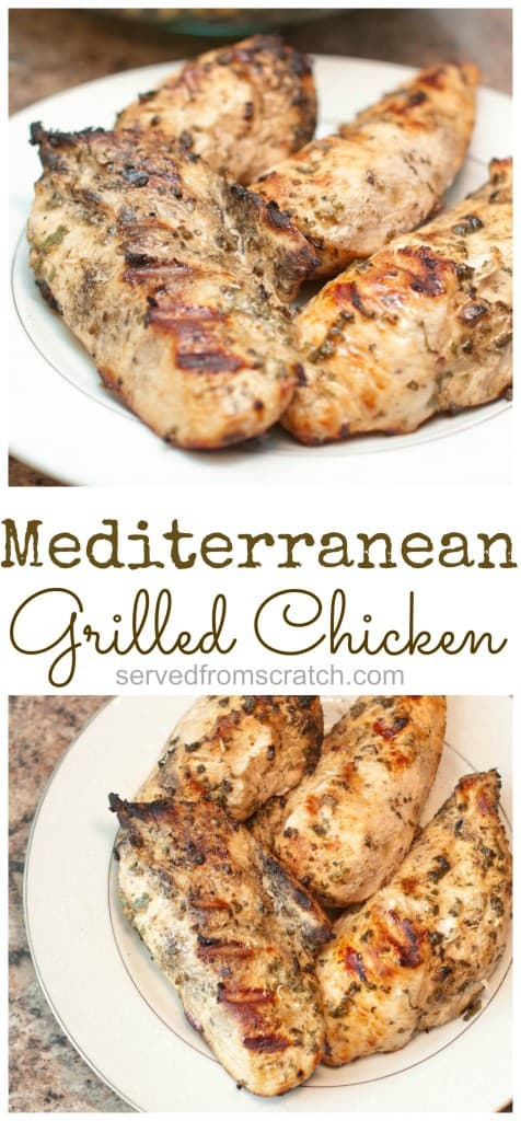 Mediterranean Grilled Chicken Breasts are a super flavorful way to make your weeknight meals even easier! #fromscratch #chicken #grilledchicken