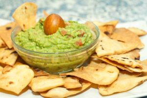 Flour Tortilla Chips and Guacamole