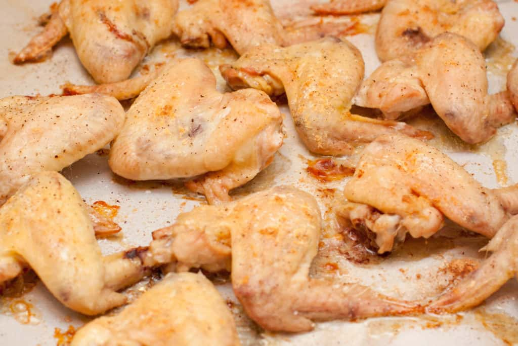 Parmesan Garlic Baked Chicken Wings