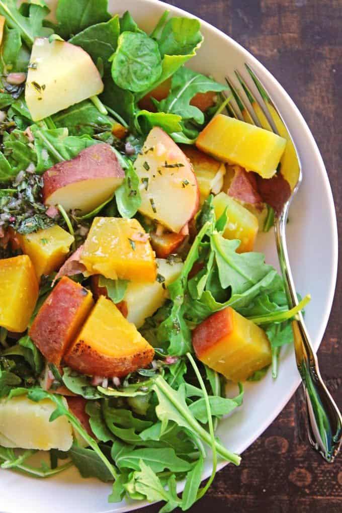 golden-beet-potato-and-arugula-salad-with-tarragon-vinaigrette-6803
