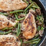 Green Bean and Mushroom Braised Chicken