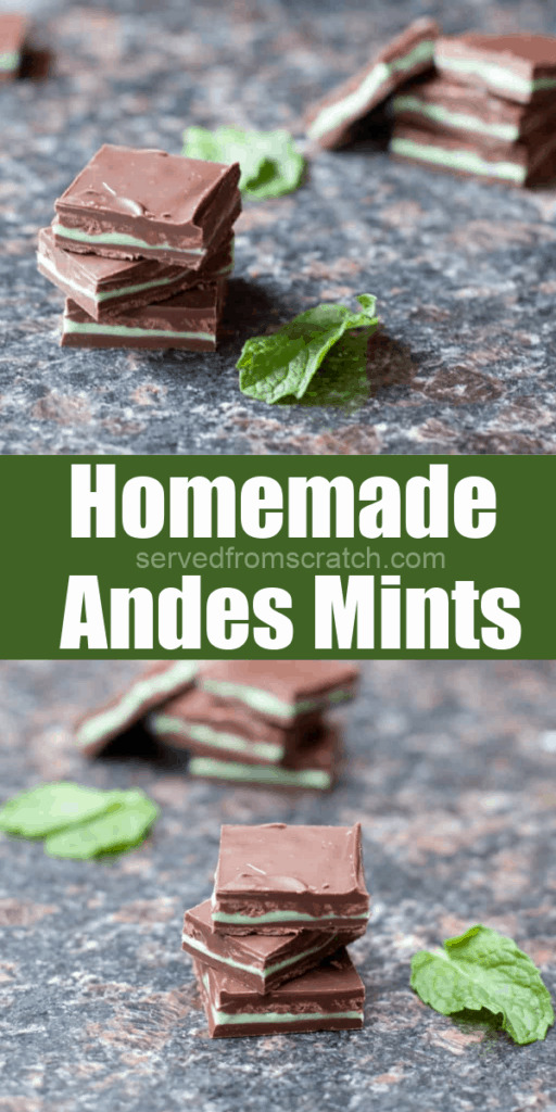 stacked andes mints and fresh mint