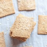 Sourdough Sesame Rye Crackers From Scratch
