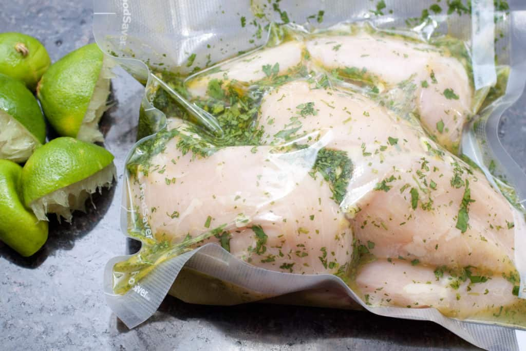 Ditch the bottle and make your own marinade.  This Grilled Cilantro Lime Chicken is fresh, flavorful, and from scratch!