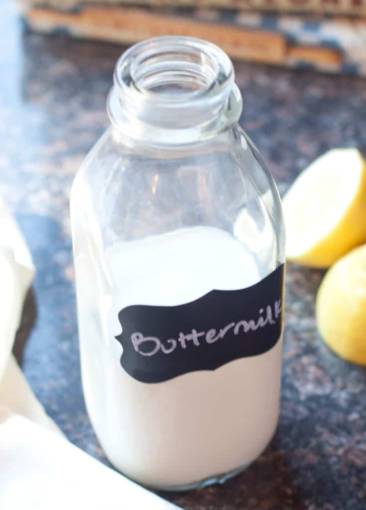 Ready to make a recipe but you don't have any buttermilk? No problem, just two ingredients and 5 minutes and you can make your own Homemade Buttermilk!