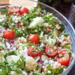 Israeli Couscous Cucumber Salad