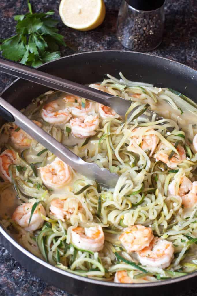 Shrimp Zoodle Scampi