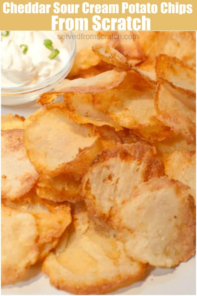 a plate of crispy thin potato chips