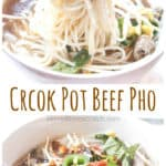 Make your own Beef Pho From Scratch in your trusty Crock Pot! You'll be surprised at just how much it tastes like Pho from your favorite Vietnamese Restaurant!