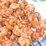 10 Minute Spicy Grilled Shrimp Skewers